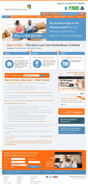 NPG Home page layout